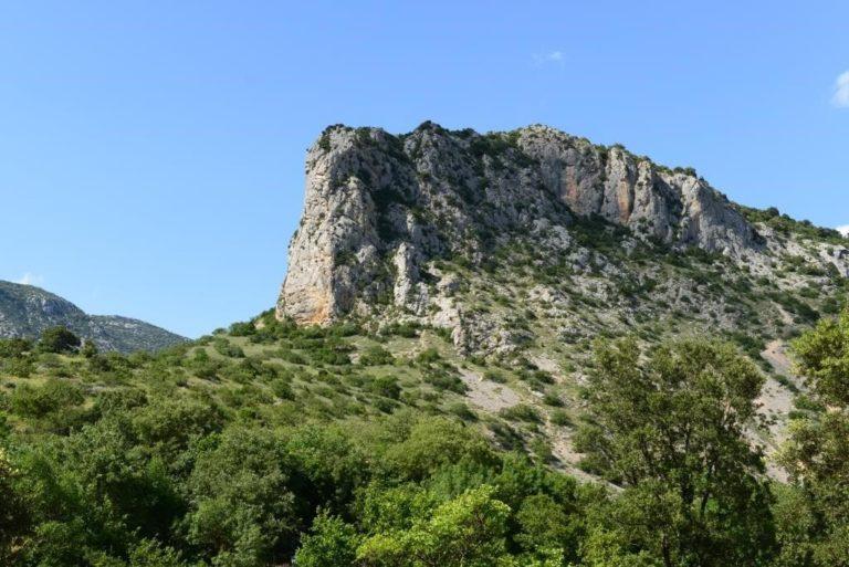 Site d'escalade sur la falaise de Saint-Jean-de-Buèges